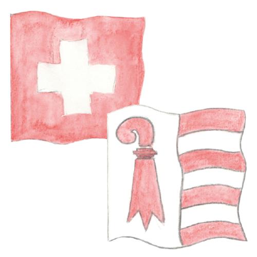 Länder- und Kantonsfahnen